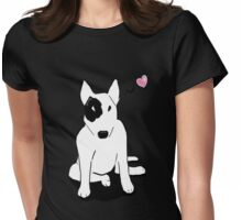 Bull terrier love Womens Fitted T-Shirt