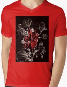 Heart in stress Mens V-Neck T-Shirt