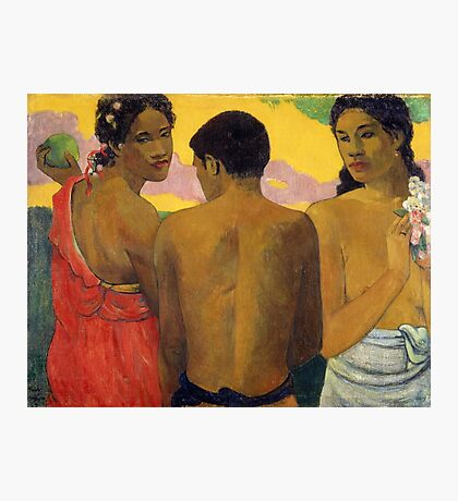Paul Gauguin - Three Tahitians  Photographic Print