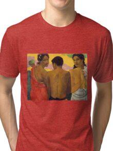 Paul Gauguin - Three Tahitians  Tri-blend T-Shirt