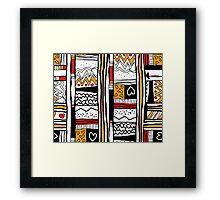 Funky Tribal Framed Print