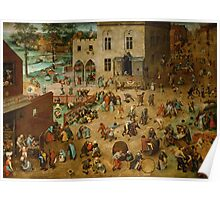 Pieter Bruegel the Elder - Children's Games 1560 Poster
