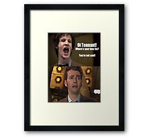 Doctor Who humor Framed Print