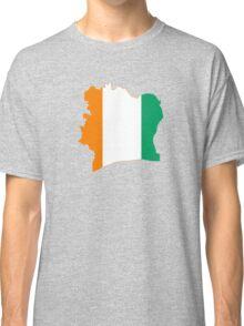 Flag Map of Côte d'Ivoire Classic T-Shirt