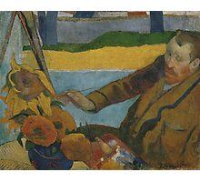 Paul Gauguin - Vincent van Gogh painting sunflowers 1888 Photographic Print