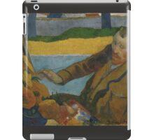 Paul Gauguin - Vincent van Gogh painting sunflowers 1888 iPad Case/Skin