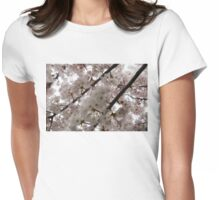 A Cloud of Cherry Blossoms Womens Fitted T-Shirt