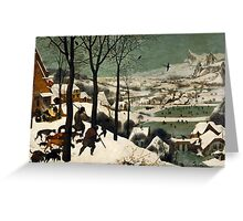 Pieter Bruegel the Elder - Hunters in the Snow Winter  Greeting Card
