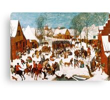 Pieter Bruegel the Elder - Massacre of the Innocents 1565 - 1567 Canvas Print