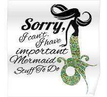 mermaid apologies Poster