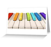 Magic piano Greeting Card
