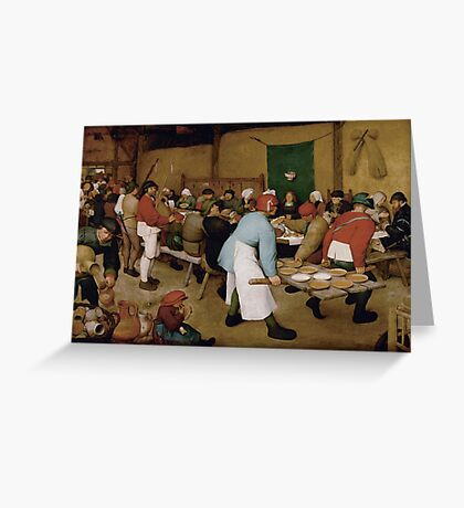 Pieter Bruegel the Elder - Peasant Wedding 1569 Greeting Card