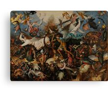 Pieter Bruegel the Elder - The Fall of the Rebel Angels Canvas Print