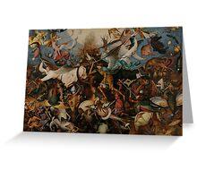 Pieter Bruegel the Elder - The Fall of the Rebel Angels Greeting Card