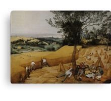 Pieter Bruegel the Elder - The Harvesters . Landscape , Autumn Canvas Print