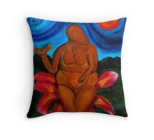 The Great Goddess of Laussel Throw Pillow