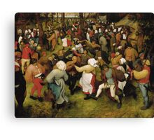 Pieter Bruegel the Elder - The Wedding Dance Canvas Print
