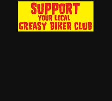 Support Your Local Greasy Biker Club Gold & Red Unisex T-Shirt