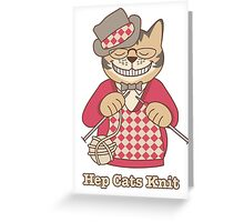 Hep Cats Knit Greeting Card