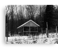 Black and White - rural winter (2012) Canvas Print