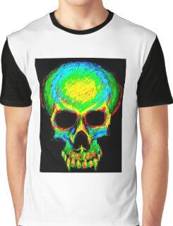 Colour contour vampire skull Graphic T-Shirt