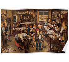 Pieter Brueghel the Younger - The Tax Collector's Office Poster
