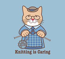 Knitting is Caring, cat man Unisex T-Shirt