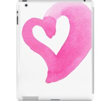 Watercolour heart isolated on white background iPad Case/Skin