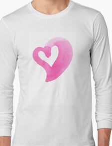 Watercolour heart isolated on white background Long Sleeve T-Shirt