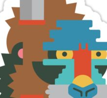 Flat Design Mandrill Sticker