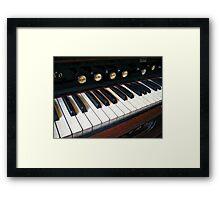 Organ Keyboard Closeup Framed Print