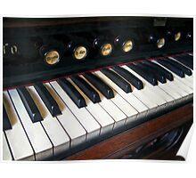 Organ Keyboard Closeup Poster