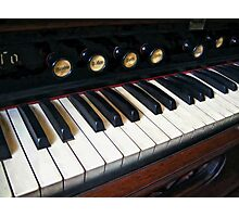 Organ Keyboard Closeup Photographic Print