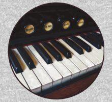 Organ Keyboard Closeup One Piece - Long Sleeve