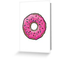 Simpsons Donut Greeting Card