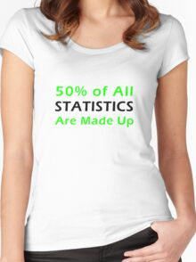 Statistics Made Up Women's Fitted Scoop T-Shirt