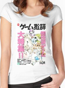Pokemon Beta Cover Design Women's Fitted Scoop T-Shirt