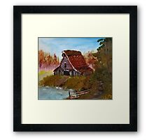 Bob R. Watercolor - Rustic Barn Framed Print