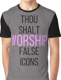 WORSHIP FALSE ICONS Graphic T-Shirt