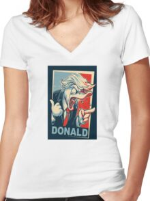 Donald Trump - Donald duck Women's Fitted V-Neck T-Shirt