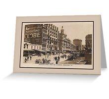 1920s Swanston Street Melbourne Victoria Australia Greeting Card