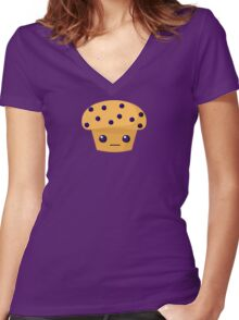 Blueberry Muffin Women's Fitted V-Neck T-Shirt