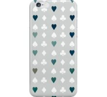 Blue Heart - Polka Dot Twist iPhone Case/Skin