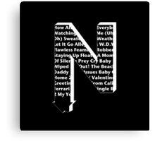 The Neighbourhood Song Titles Logo Canvas Print