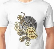 Wheels of Time on Leather Unisex T-Shirt