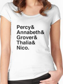 Percy & Annabeth & Grover & Thalia & Nico. (Percy Jackson) Women's Fitted Scoop T-Shirt