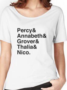 Percy & Annabeth & Grover & Thalia & Nico. (Percy Jackson) Women's Relaxed Fit T-Shirt