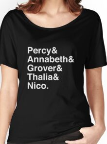 Percy & Annabeth & Grover & Thalia & Nico. (Percy Jackson) (Inverse) Women's Relaxed Fit T-Shirt