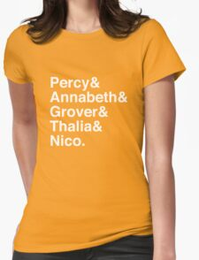 Percy & Annabeth & Grover & Thalia & Nico. (Percy Jackson) (Inverse) Womens Fitted T-Shirt