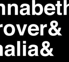 Percy & Annabeth & Grover & Thalia & Nico. (Percy Jackson) (Inverse) Sticker